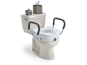 Raised Toilet Seats and Safety Frames